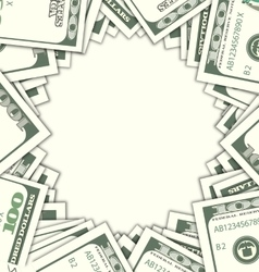 Round Frame with Dollars on White Background vector image vector image