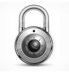 Round padlock on white vector image vector image