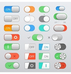 toggle switch set vector image
