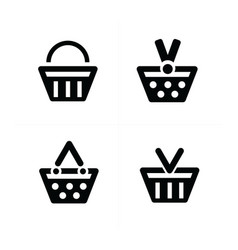 4 design shopping cart icon set vector image vector image