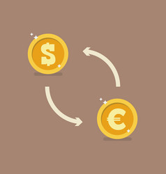euro and dollar currency exchange vector image