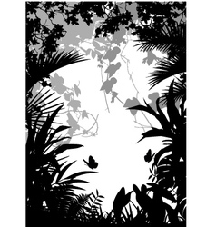 jungle vector image vector image