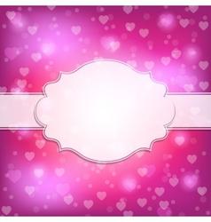 Valentine Day frame vector image vector image