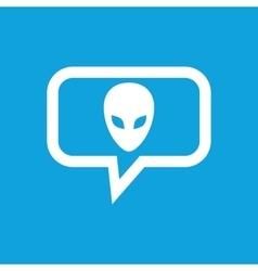 Alien message icon vector image