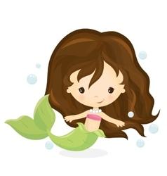 Cute mermaid girl vector image vector image