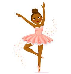 dark skinned ballerina vector image vector image