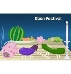 Japanese summer bon festival obon background vector