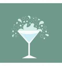 martini drink vector image vector image