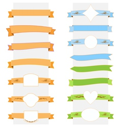 ribbon banner set vector image vector image