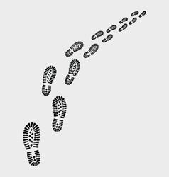 shoes prints vector image