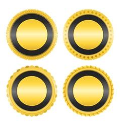 Blank Golden Badges vector image vector image