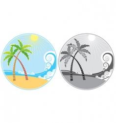 tropical island icon vector image