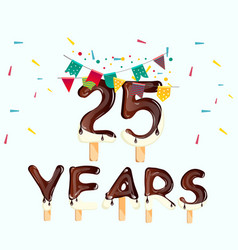 25 number happy birthday greeting card vector image