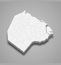 3d isometric map ciudad de buenos aires vector