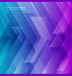 Abstract blue and purple gradient color tech vector
