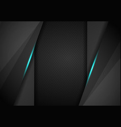 abstract modern blue black carbon fiber textured vector image