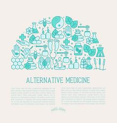 Alternative medicine concept in half circle vector