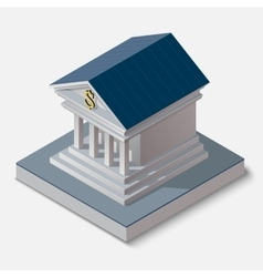 bank building on white background vector image
