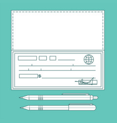bank check bank cheque vector image