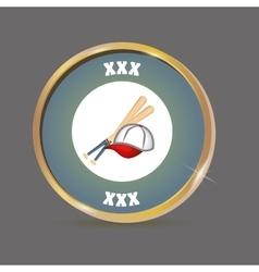 baseball hat bats vector image