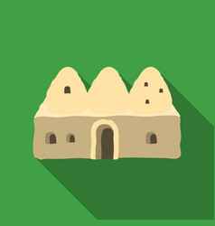 Beehive house icon in flate style isolated on vector