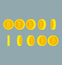 Bitcoin rotating gif animation sprite sheet vector