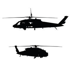 Black havk on white background vector