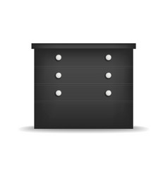 black nightstand mockup realistic style vector image