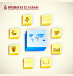 bright infographic concept vector image