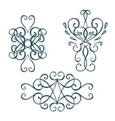 Calligraphic design element vintage pattern vector