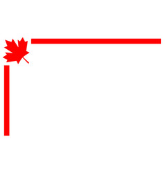 Canadian flag symbolism border corner vector