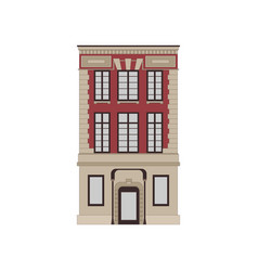 Cartoon historical red building icon highly vector
