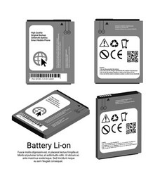 cell phone battery lithium-ion isometric vector image