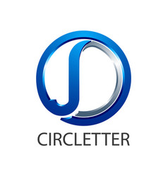 Circle initial letter jd or j logo concept design vector