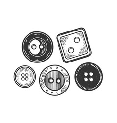 Clothing button engraving vector