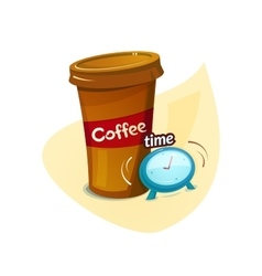 Coffee time concept design vector