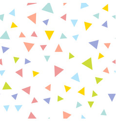colorful repeating triangle confetti background vector image