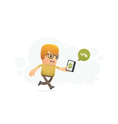 Control of finances with smartphone vector