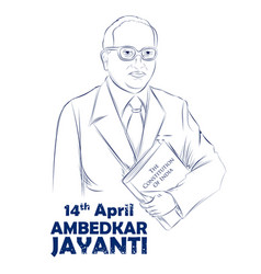 Dr bhimrao ramji ambedkar with constitution of vector