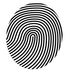 drawing fingerprint vector image