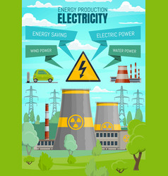 Electricity power stations renewable sources vector