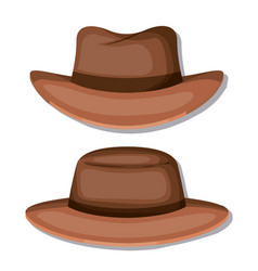 elegant hat masculine icons vector image