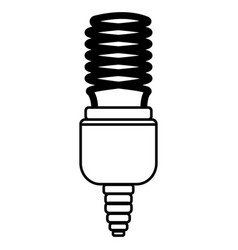 energy saving lamp outline vector image