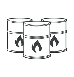 flammable barrels oil or biofuel explosive vector image