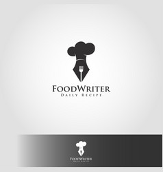 food writer or recipe writer - professional expert vector image