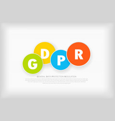 gdpr abstract background template with colorful vector image