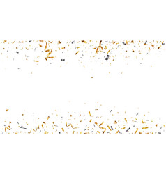 Gold confetti background isolated on transparent vector