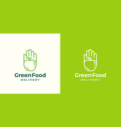 green food delivery abstract sign symbol vector image