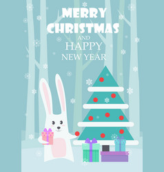Greeting card dedicated to christmas and vector