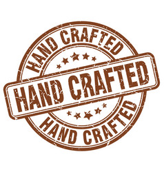 Hand crafted brown grunge stamp vector